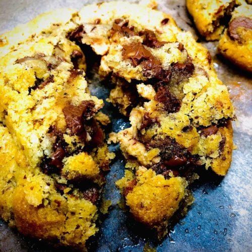 Peanut Butter Stuffed Chocolate Chip Cookies