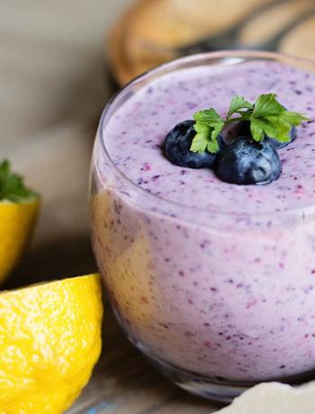 Easy Lemon Blueberry Smoothie