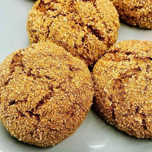 Vegan Pumpkin Spiced Sugar Cookies