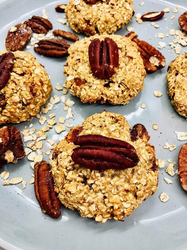 Healthy Vegan Apple & Pecan Cookies