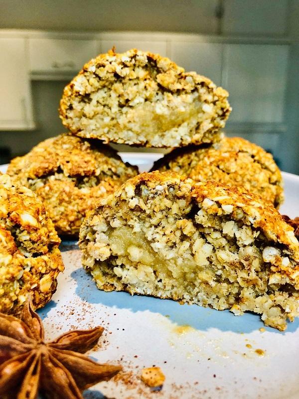 Healthy Vegan Apple Stuffed Cookies